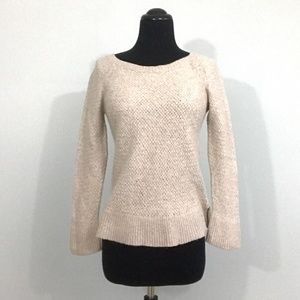 LOFT XL *Runs SMALL Cream Textured Knit Sweater